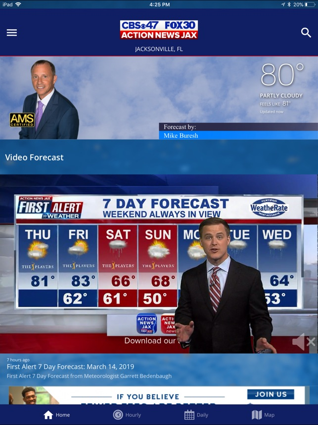 Channel 4 news weather forecast jacksonville