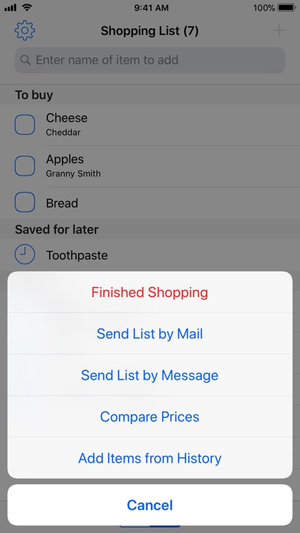 Easy Shopping List Lite screenshot-4