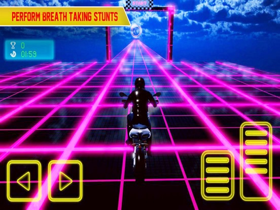 Screenshot #4 pour Crazy Bike In Light Tracks