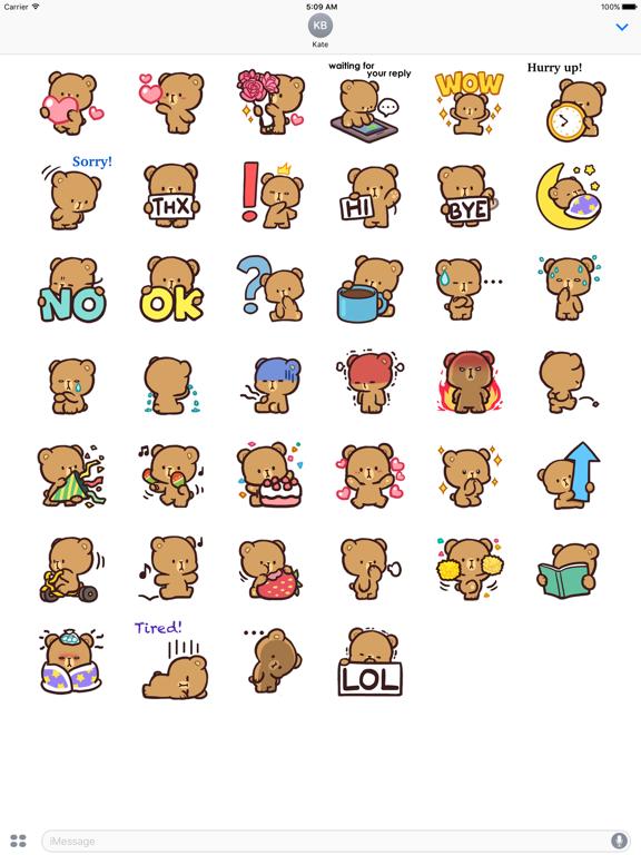 Cool Bear Mocha Daily Emoji screenshot 6