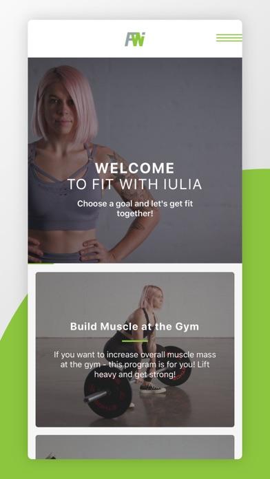 Fit With Iulia - Fitness Appのおすすめ画像1
