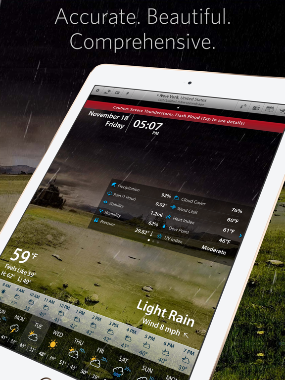 Weather Mate - Live Current Conditions, Hyperlocal Forecast, Severe Weather Alerts, Weather History, and Travel Planner screenshot