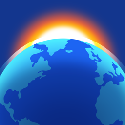 Ícone do app Living Earth - Clock & Weather