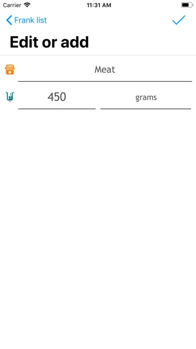 QuickList simple Shopping List screenshot four