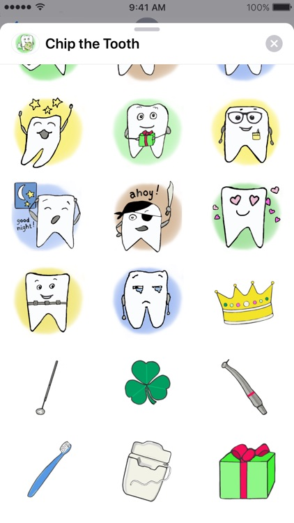 Chip the Tooth cute stickers