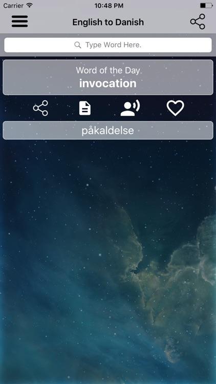 English To Danish Dictionary