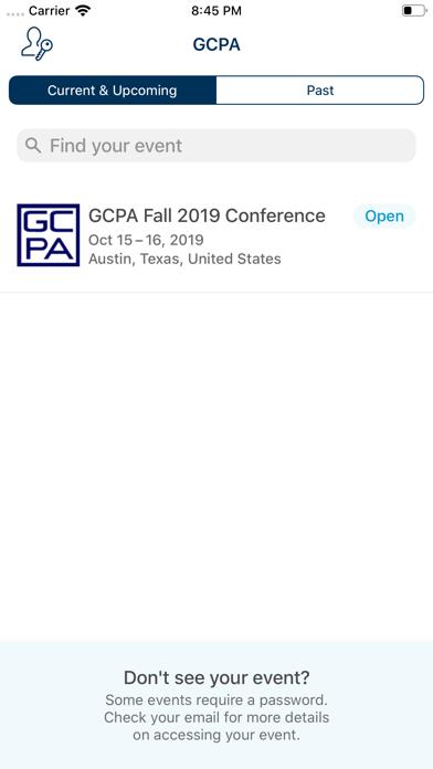 GCPA Events screenshot two