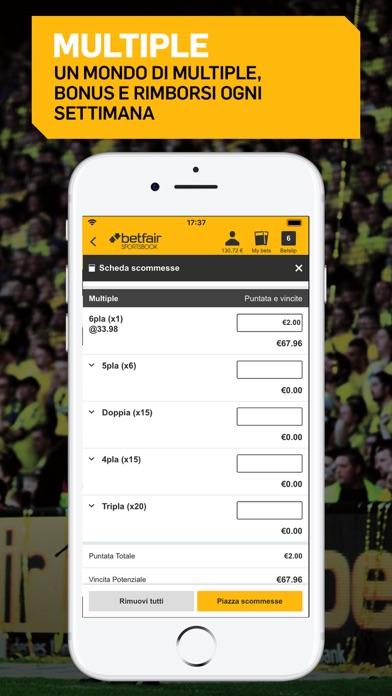 Screenshot of Betfair Sport - Scommesse4