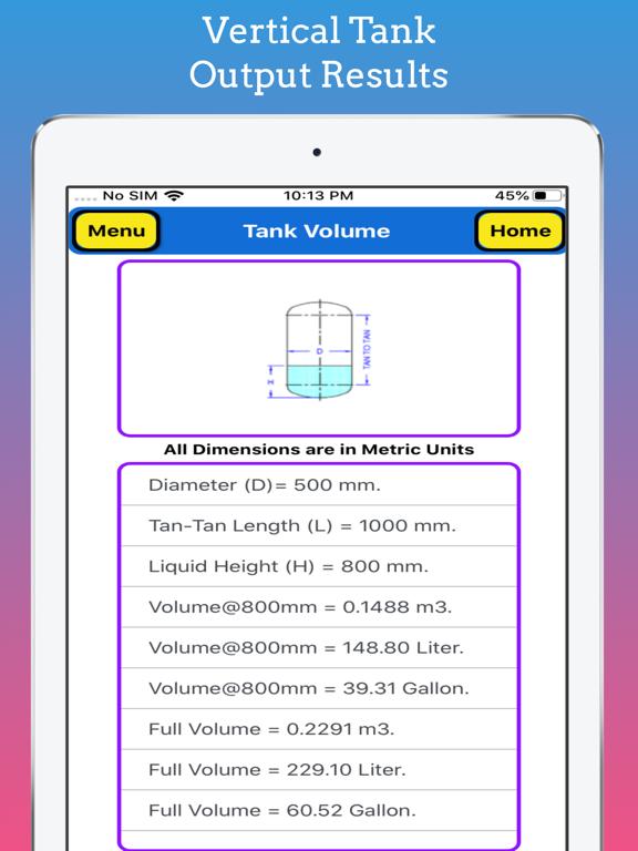 Tank Partial Volume Calculator screenshot 15