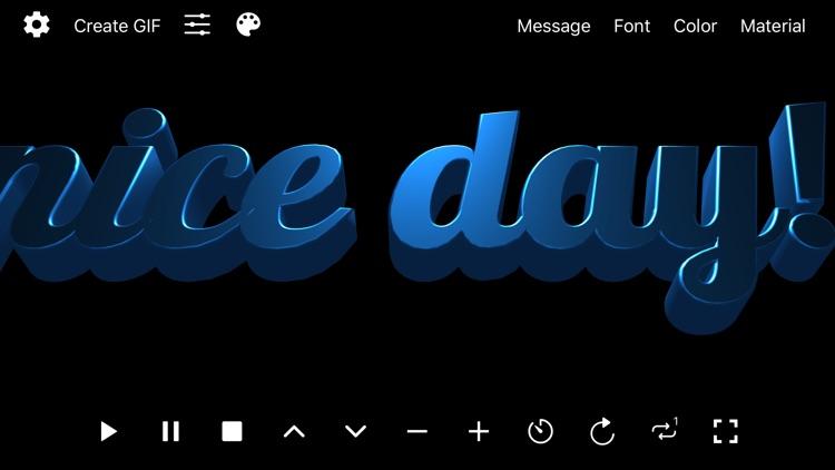 Banner 3D - scrolling text app screenshot-8