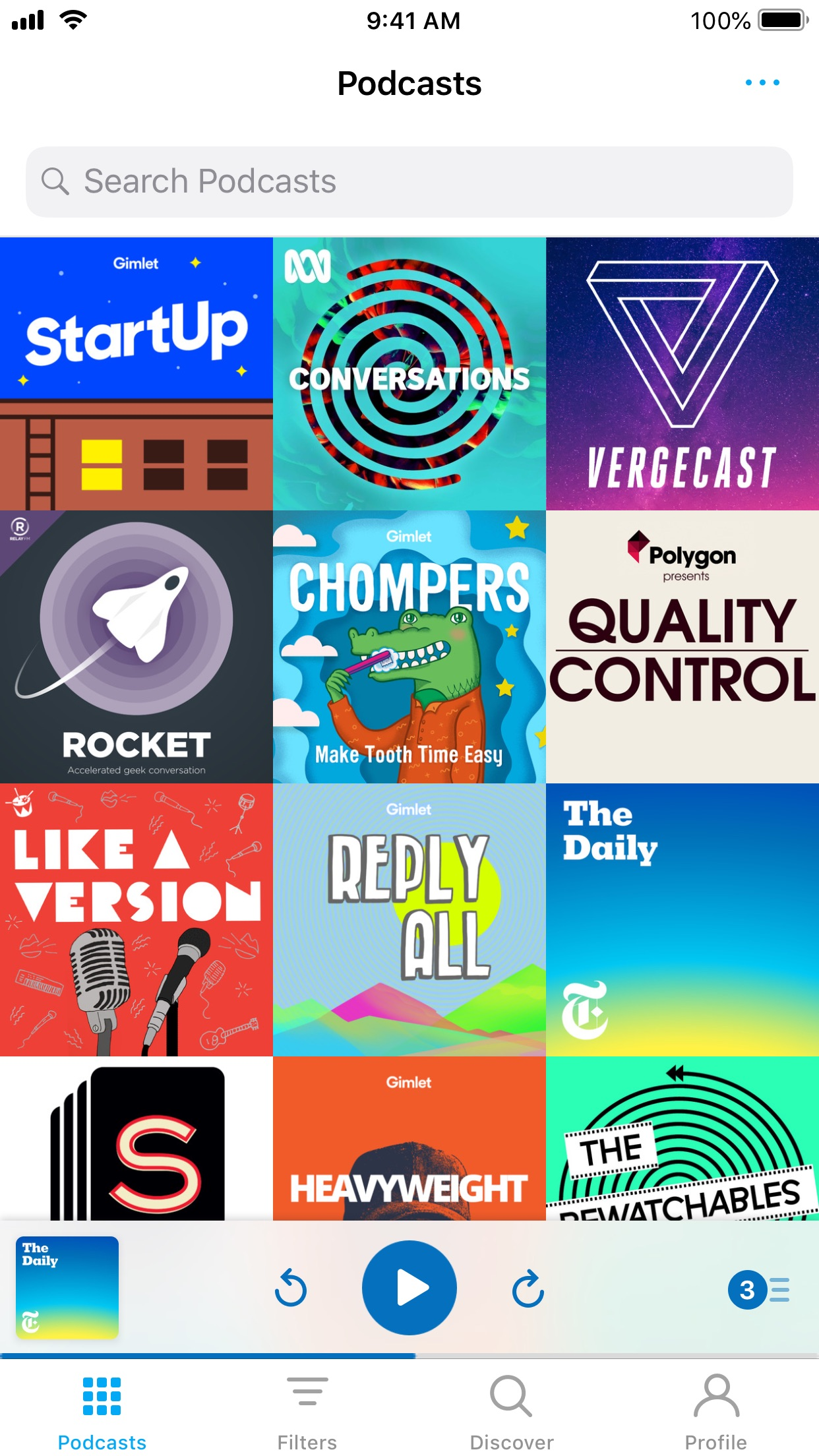 Screenshot do app Pocket Casts