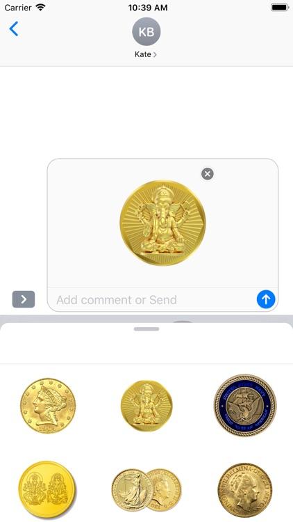 Coins Stickers screenshot-3