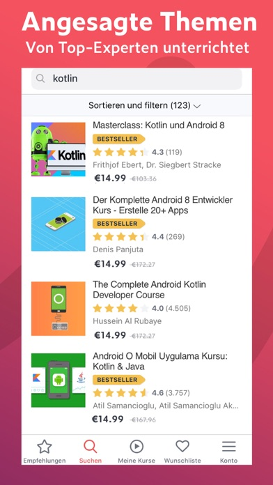 Screenshot for Udemy - Online Lernen in Germany App Store