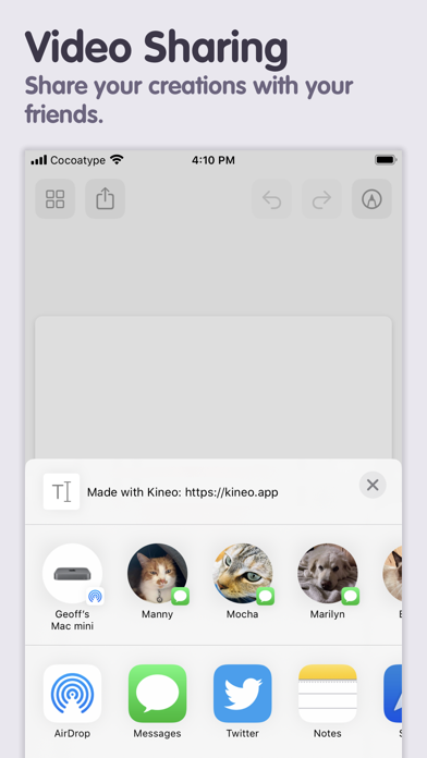 Kineo review screenshots