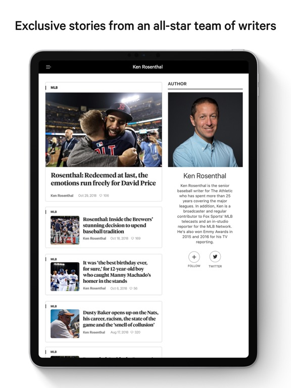 The Athletic: Sports Coverage screenshot