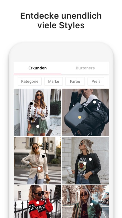 Screenshot for 21 Buttons - Mode Social Shop in Germany App Store