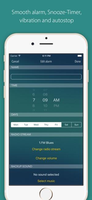 bedr alarm clock radio on the App Store