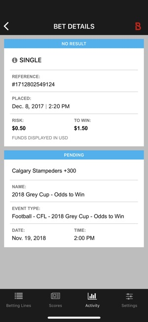 Bovada Bet Tracker on the App Store