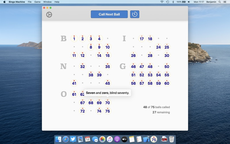 Bingo Machine - Number Caller for Mac