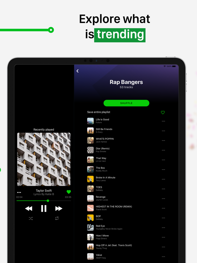 ‎eSound - Music Player App Screenshot