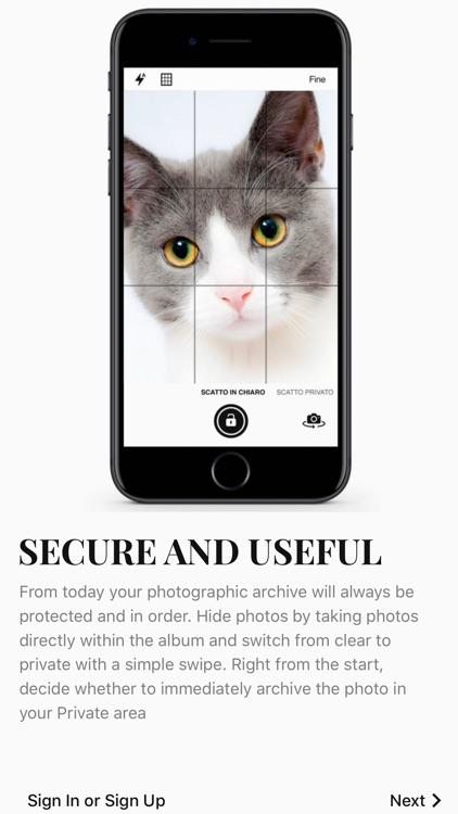 Camazing, chat and photo vault