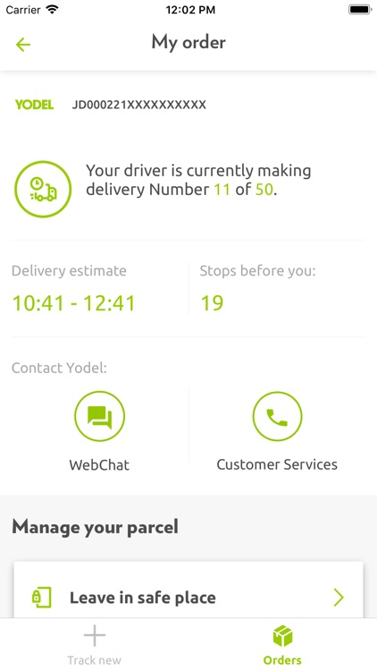 Yodel parcel manager screenshot-3