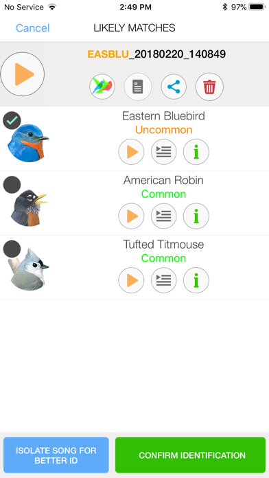 Song Sleuth: Auto Bird Song ID Screenshot
