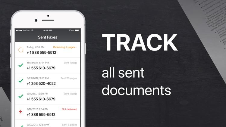 FAX from iPhone - send fax screenshot-3