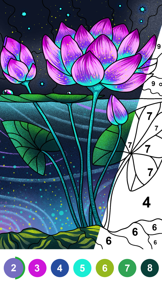 Paint by Number Coloring Games App for iPhone - Free ...