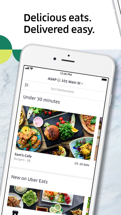 Screenshot for Uber Eats: Madlevering in Denmark App Store