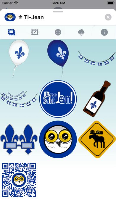 Ti-Jean Le Harfang • Stickers screenshot 5