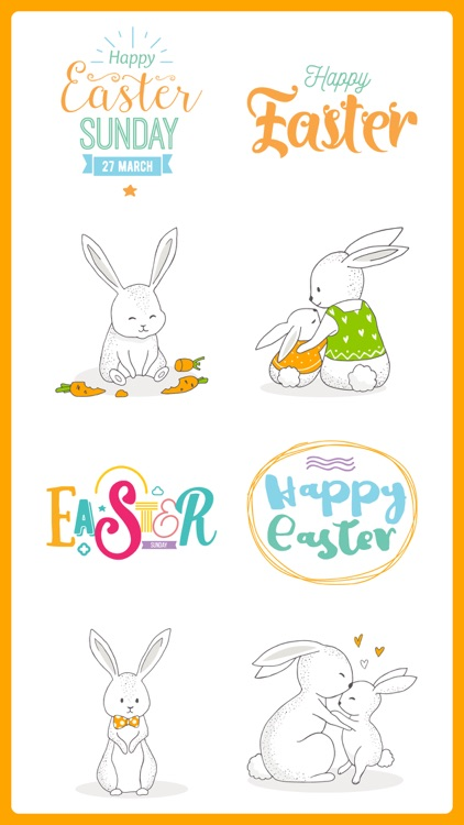Happy EASTER & Spring Stickers