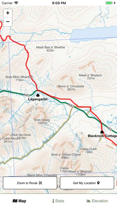 West Highland Way Map screenshot 2