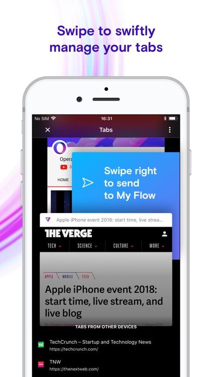 Opera Touch web browser screenshot-7