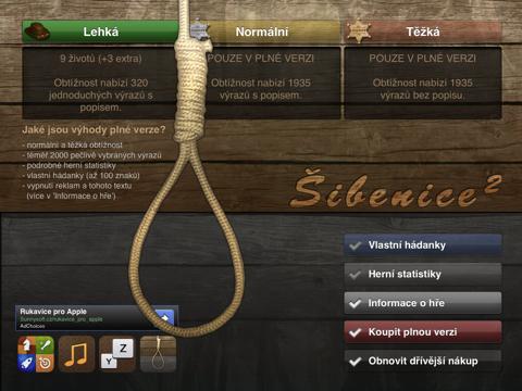Šibenice² pro iPad - náhled