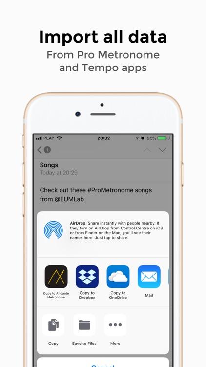 Andante Metronome - Tempo App screenshot-8
