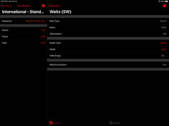 Ballroom Competition Trainer Lite screenshot