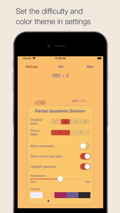 Partial Quotients Division Screenshots