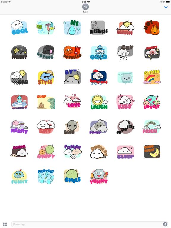 Animated Cute Weather Emoji screenshot 6