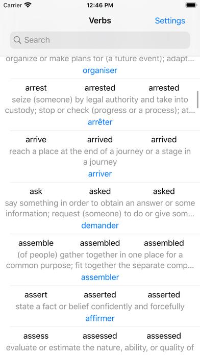 English Verbs. screenshot one