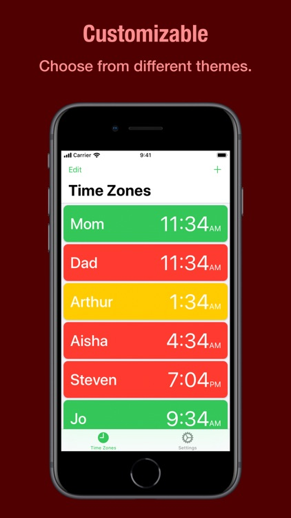 Zones - Time Zone Tracker