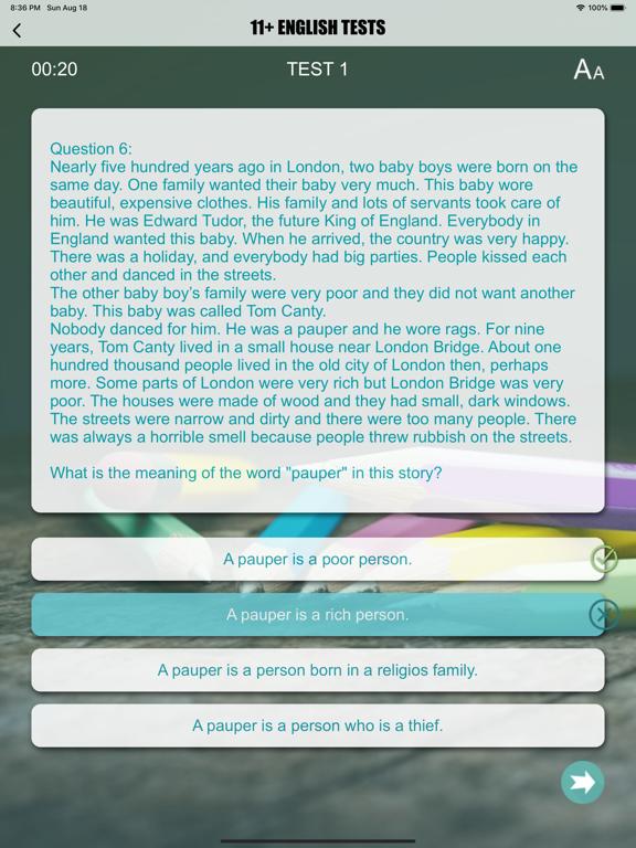 11+ English Exam Question screenshot 11