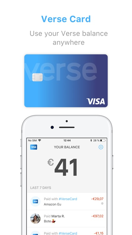Verse - Send and request money