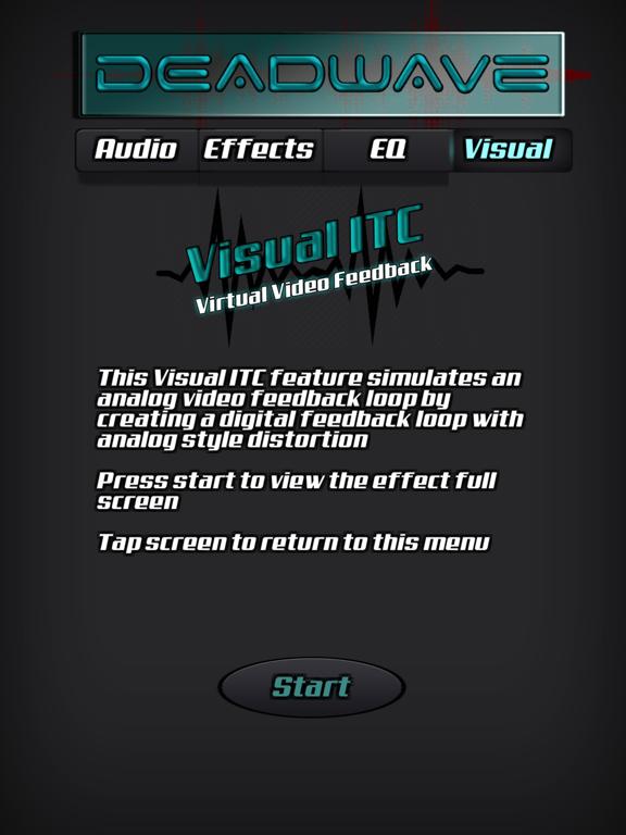 DeadWave ipad ekran görüntüleri