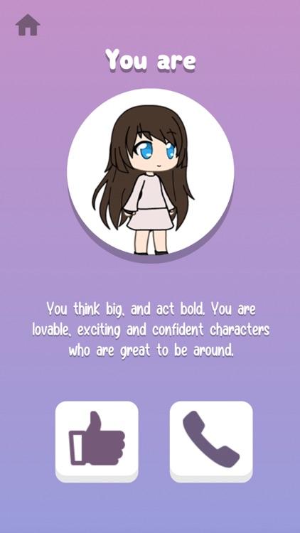 Gacha Personality Quiz screenshot-3