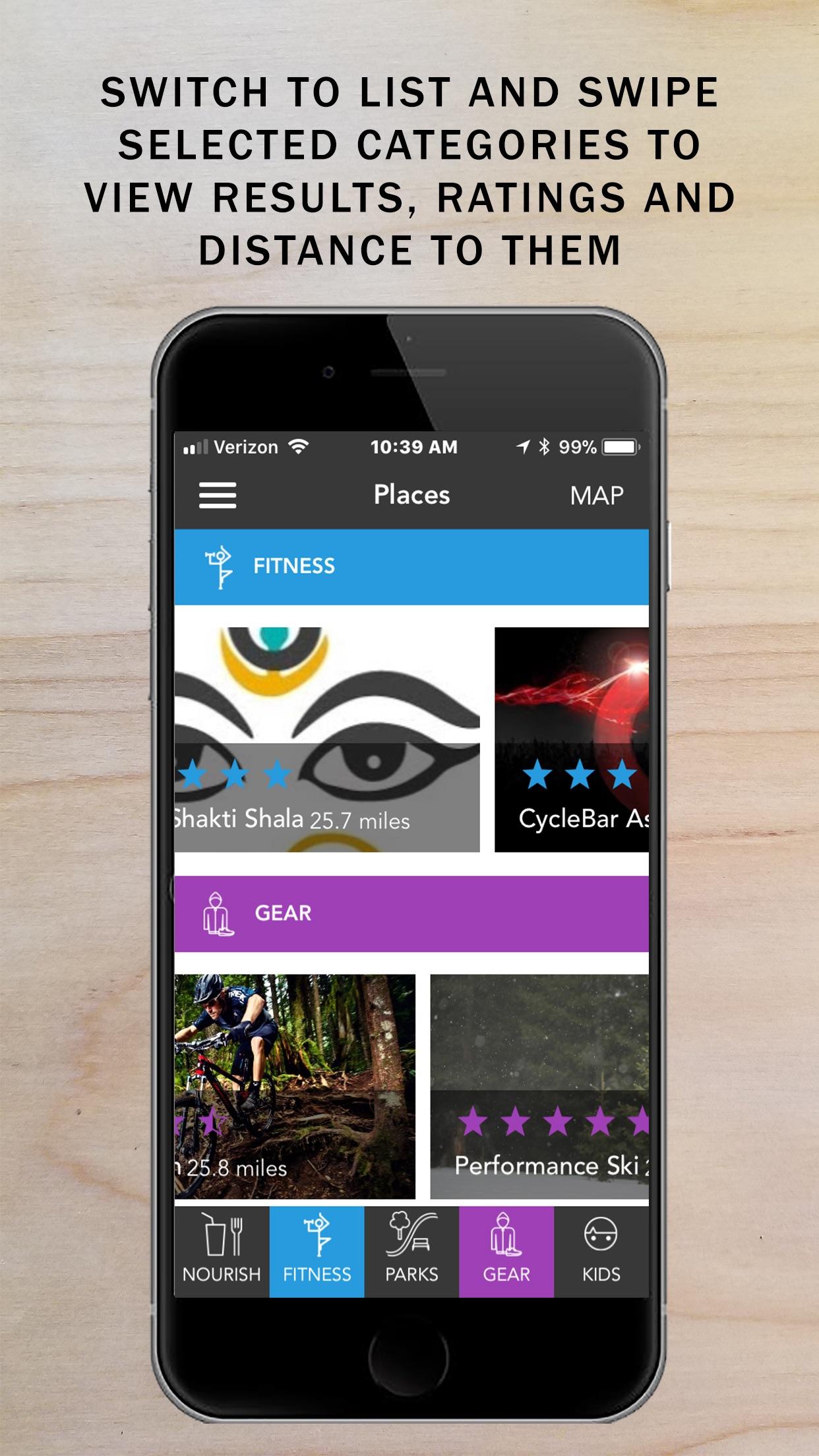 GoBeMap - Fit Living, Found Screenshot
