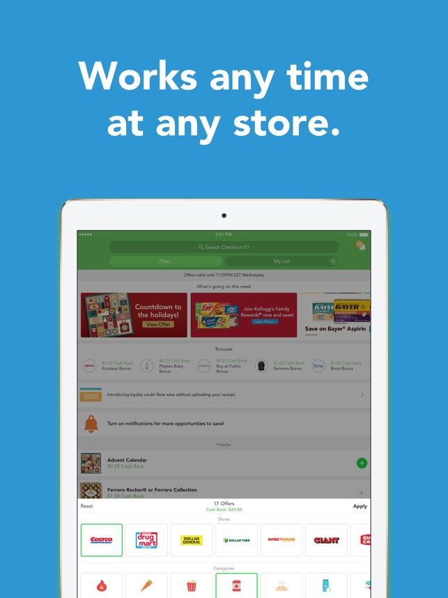 Checkout 51: Cash Back Savings on the App Store
