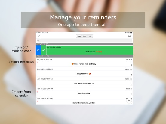 Reminders - Beep Me screenshot