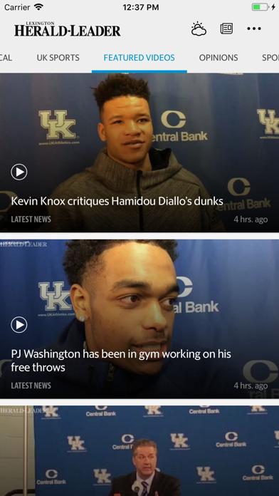 Lexington Herald-Leader News Screenshot