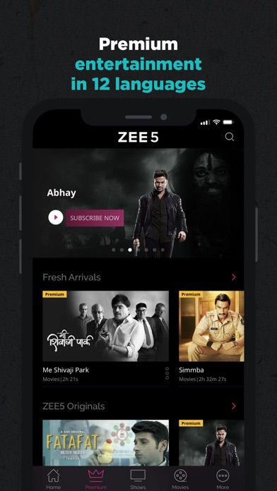 ZEE5 - Shows Live TV & Movies - Revenue & Download estimates - Apple